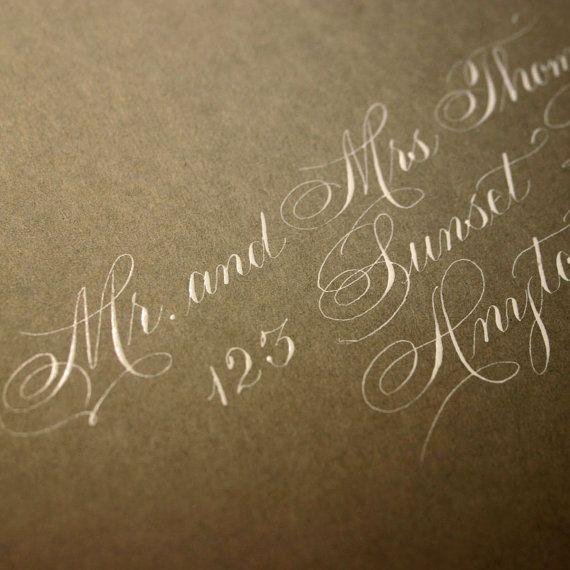 Wedding Calligraphy Envelope Addressing  by ArtfulCelebrations