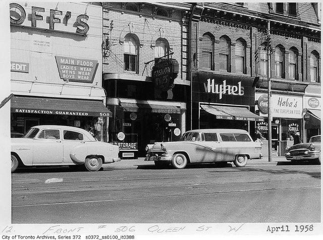 506 Queen Street West, Toronto, April 1958.