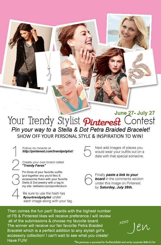 So excited to announce our first Pinterest Contest!!  Have FUN ladies! :)