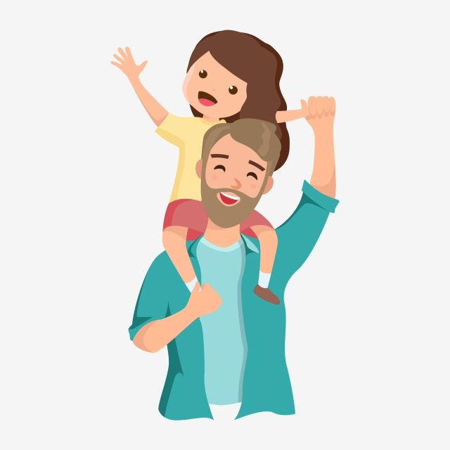 Father And Daughter Cartoon Father And Daughter Hand Painted Hand Painted Father And Daughter Fathers Day Happy Fathers Day Happy Holiday Png And Vector With Father Cartoon Father S Day Drawings Happy