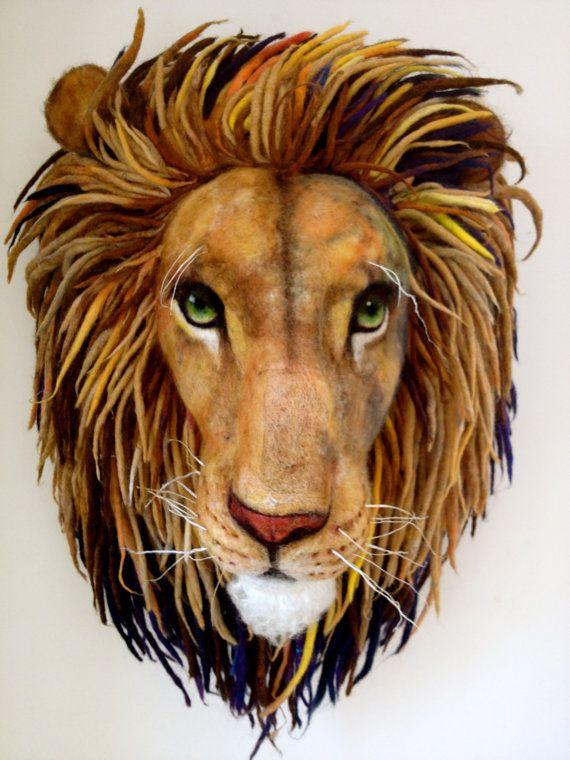 Needle Felted Aslan from Narnia needle Felted by RichardHannaFelt, $1200.00