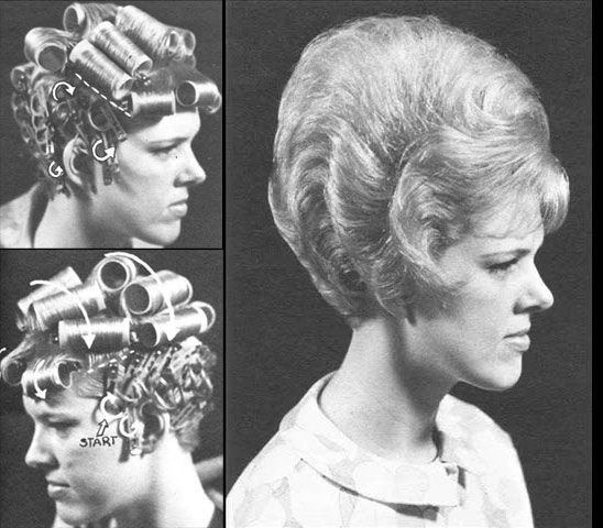 These old hairstyles were sooo much darn trouble to fix and then keep fixed. Forget about gardening, you just stayed cleaned up all the time, boring. No sweating.