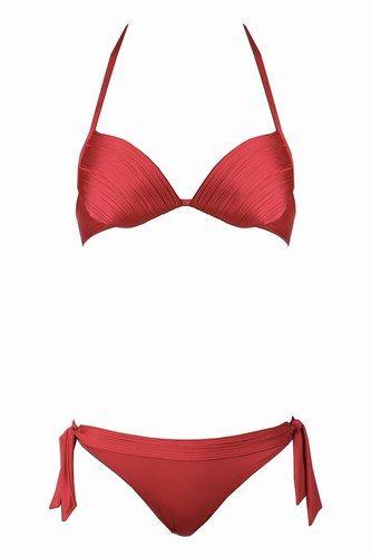 Bikini rosso plissettato Ritratti