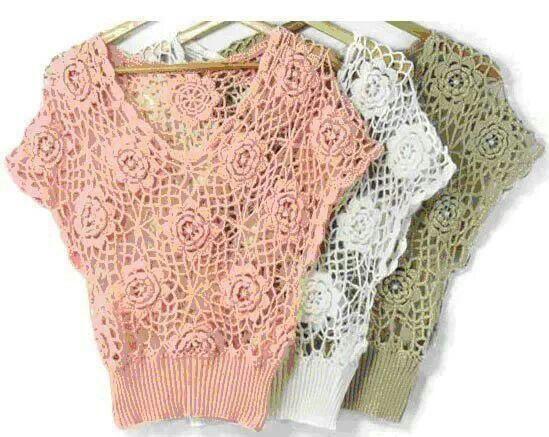 Blusas caladas sin patrón | Solo blusas | Pinterest