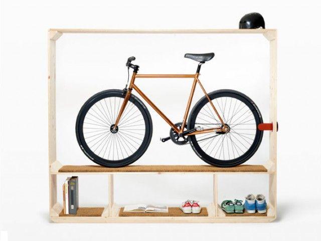 amazing Bike Shelf by Postfossil Minimalist Shelving Unit Creatively Putting Your Bicycle on Display