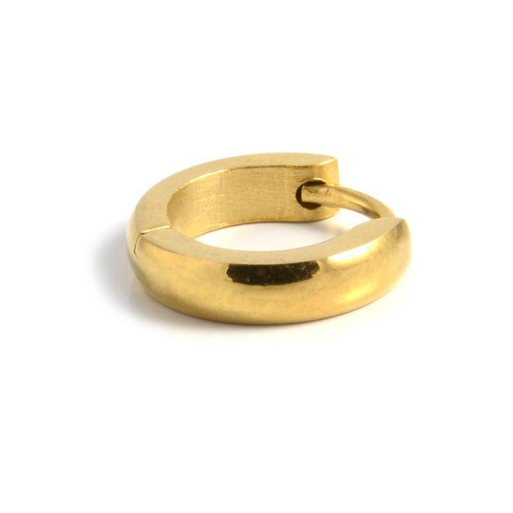 Klassisk Guld Rund Ørering - 115,00kr