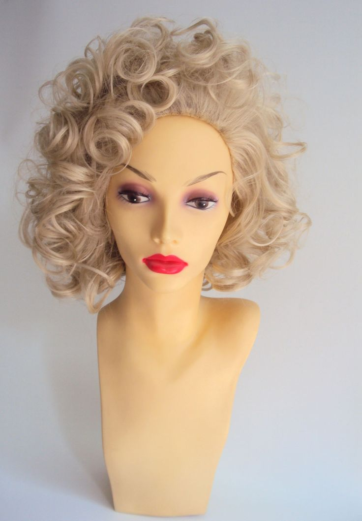 Sandy Grease Costume Wig #Blonde #Curly #Film #Hair #FinalScene #PinkLadies