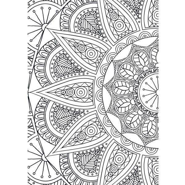 Printable para colorir meia mandala