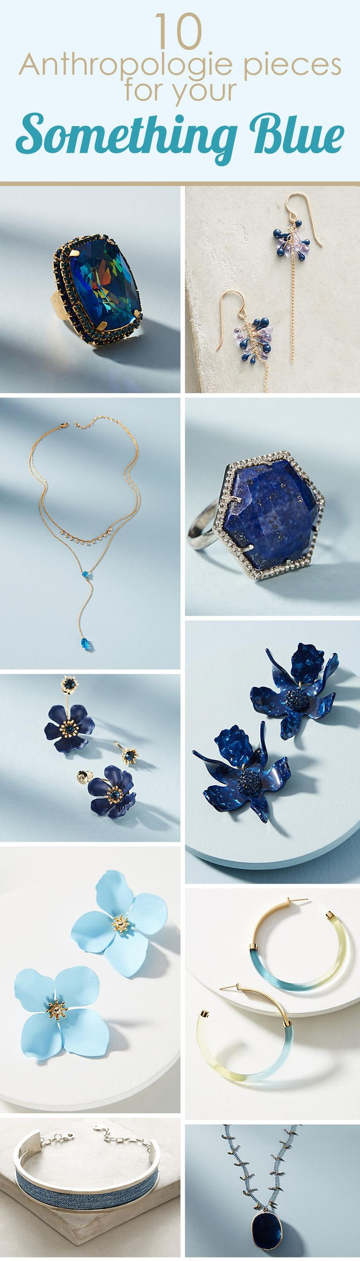 10 Anthropologie pieces for your something blue. Are you looking for the perfect item to complete your wedding tradition? Check out this great collection of timeless pieces. Something old, new, borrowed and BLUE - and a sixpence in her shoe! Shopstyle provides a great collection of items for your wardrobe. Check them out now!