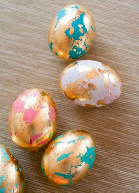 Gold Leaf Easter Eggs <3