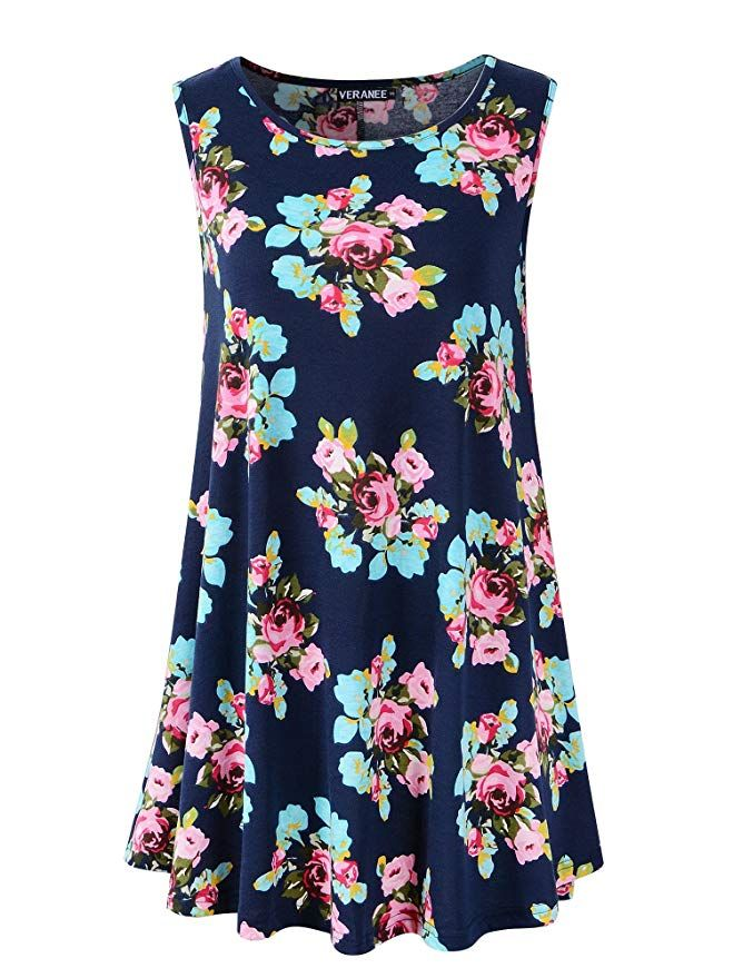 NEW LOOK Black Floral Sleeveless Swing Top