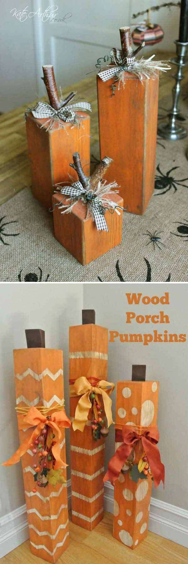 20 halloween decorations crafted from reclaimed wood - Homemade Halloween Centerpieces