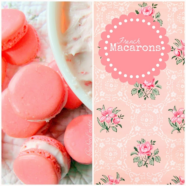 Beautiful Strawberry Macarons from Bluebird Notes