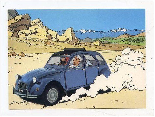 Publicité Citroen, Hergé