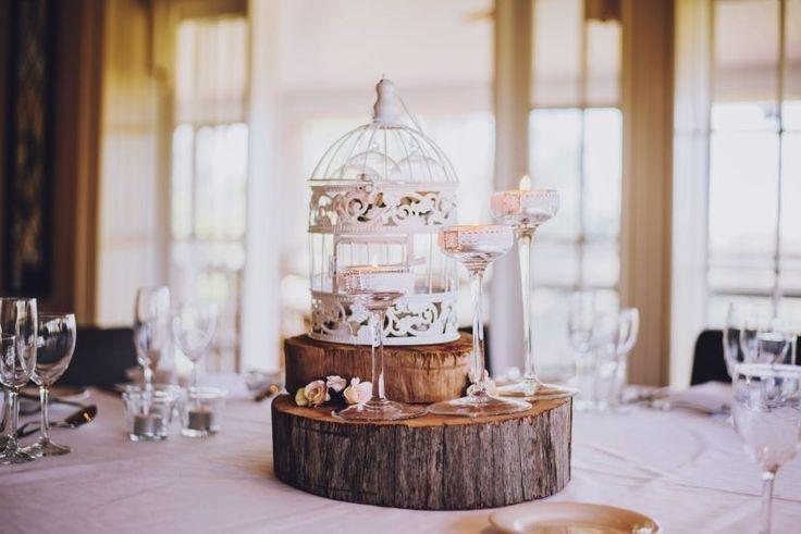 Centrotavola in legno per il matrimonio