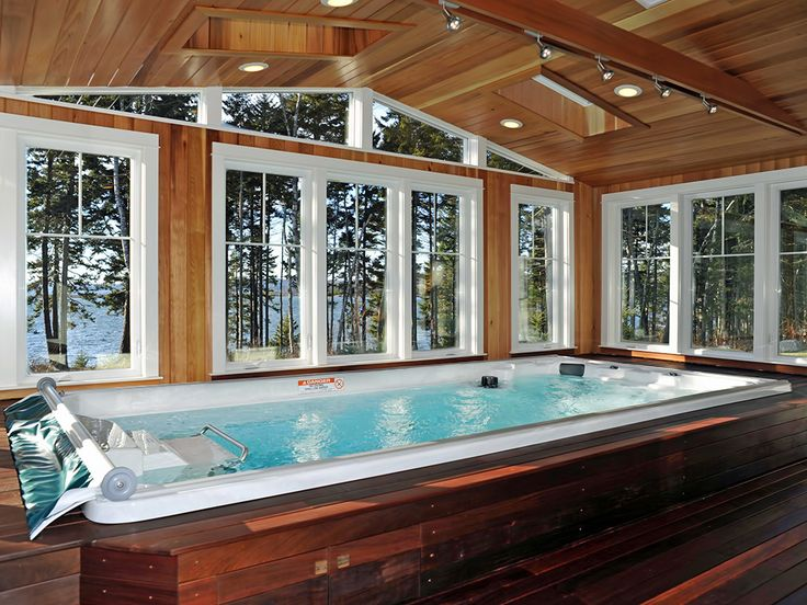 9 best indoor swimming pools images on pinterest endless for Endless pool in basement