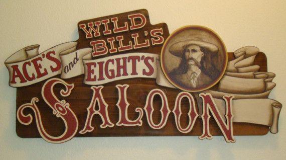 Custom Personalized Western Saloon sign Wild Bills by madasigns