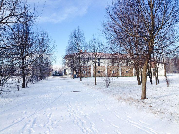 Il Centro Parco con la neve