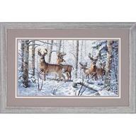 Crosstitch Woodland Winter...Deer