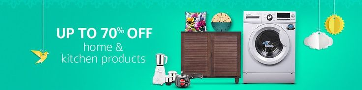Up to 70% off Home & Kitchen Products | #The #Great #Indian #Sale - valid period - 9th to 12th Aug 2017  Amazon Great Sale Offer Days  Bonanza of Offers on Amazon India  Amazon Great Indian Sale 9th to 12th August 2017 - LIve Now  Up to 70% off Kitchen & Dining  30% off or more Gas stoves  Up to 50% off Cookware sets  Up to 40% off Dinner sets  Up to 50% off Storage containers  Up to 50% off Kitchen appliances  Up to 30% off Water purifiers  Up to 50% off Home appliances  Starting at Rs.349…