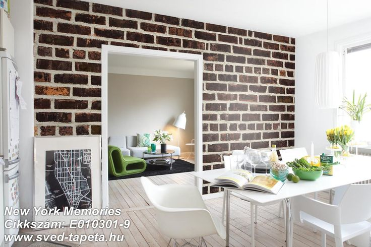 ☞ A rough brick wall from a back street in Harlem is equally suited to a wall in your home. #harlem #wall #decor #tapeta #foto #poster