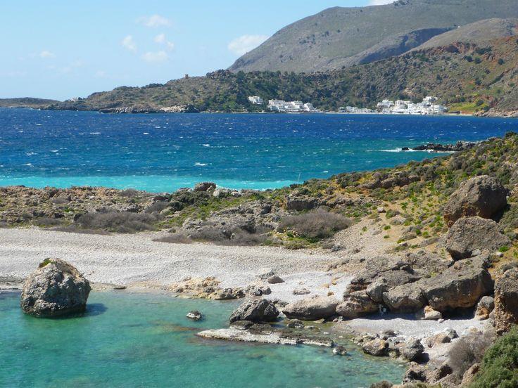 Playas región de Sfakia, suroeste de Creta