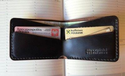 minimalistyczny portfel ze skóry SHELL CORDOVAN