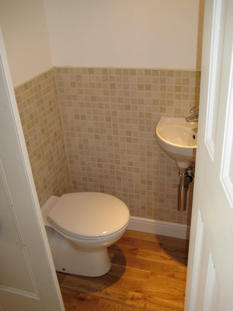 New toilet and sink installed