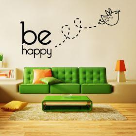 Vinilos Decorativos Textos y Frases Be Happy