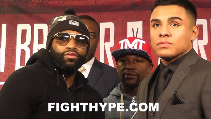 ADRIEN BRONER AND ADRIAN GRANADOS COME FACE TO FACE AS FLOYD MAYWEATHER LOOKS ON - http://www.truesportsfan.com/adrien-broner-and-adrian-granados-come-face-to-face-as-floyd-mayweather-looks-on/