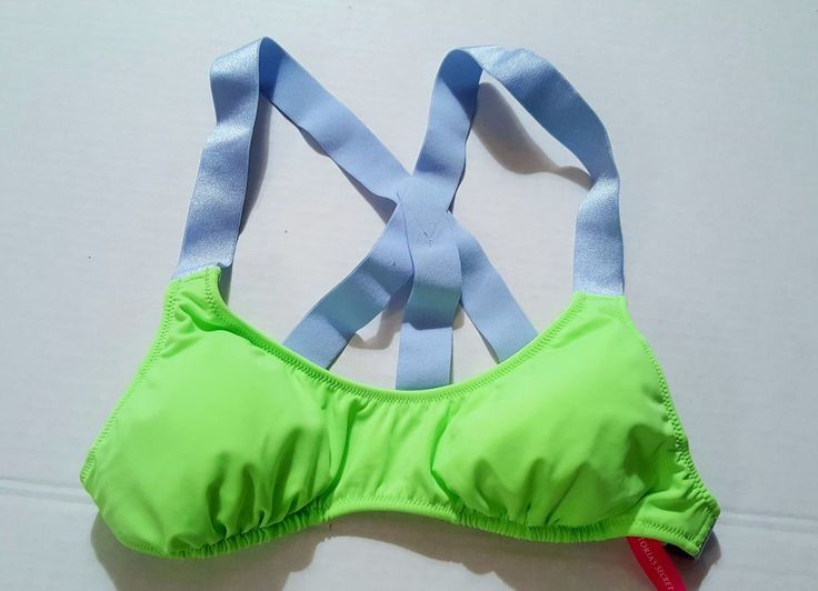 Victoria's Secret 2-Cup Swim BIKINI TOP Bathing Suit Green Strappy Size S NWOT #VictoriasSecret #BikiniTop