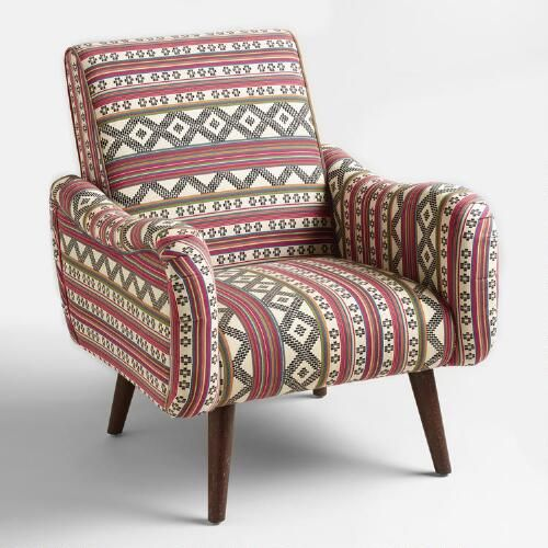 Not A Cheap Chair Neyla From World Market Jacquard Print Upholstered Armchair SKU But Gorgeous In Terms Of Weird Shape And Beautiful Modern