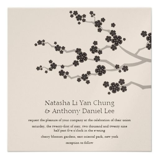 53 best wedding images on pinterest zen wedding marriage and black sakura cherry blossoms oriental zen wedding invitation stopboris Gallery
