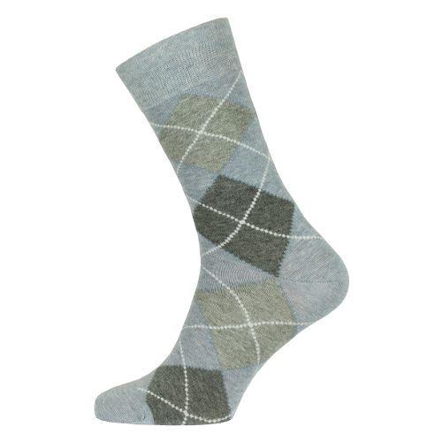 Herensokken met een mooie grijs-blauwe ruit. Een nette sok die ook prima bij een spijkerbroek past.