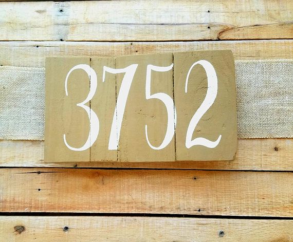 Wood Address Plaque House Number Painted Horizontal Hanging Street Number Pallet Sign Farmhouse Rustic Personalized Home Address Wood Address Plaque House Number Sign House Numbers