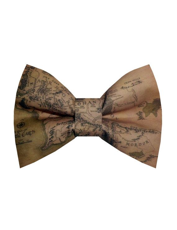 Map of middle earth, Lord of the rings Bow-tie, Made by birdies (for my brother, geeky & classy)