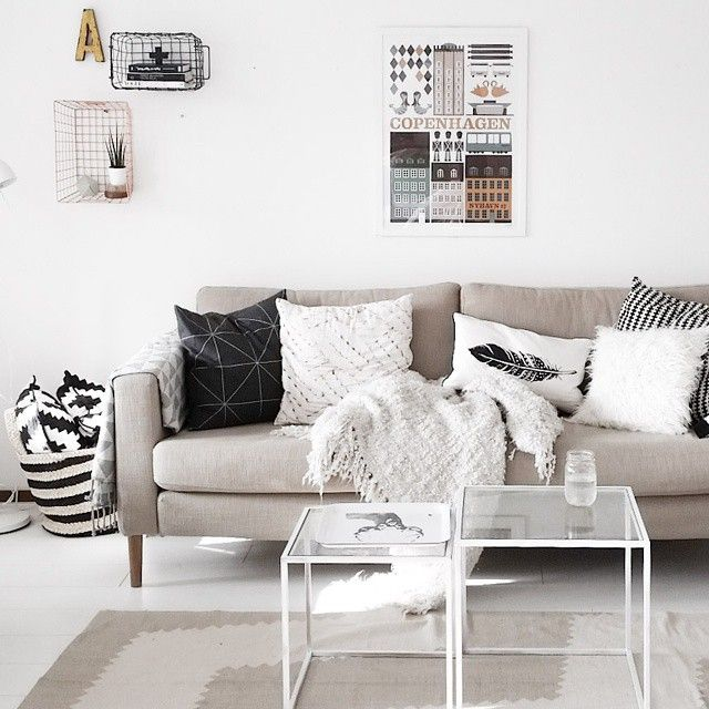 Nordic interior. Ferm living poster. Ikea couch.