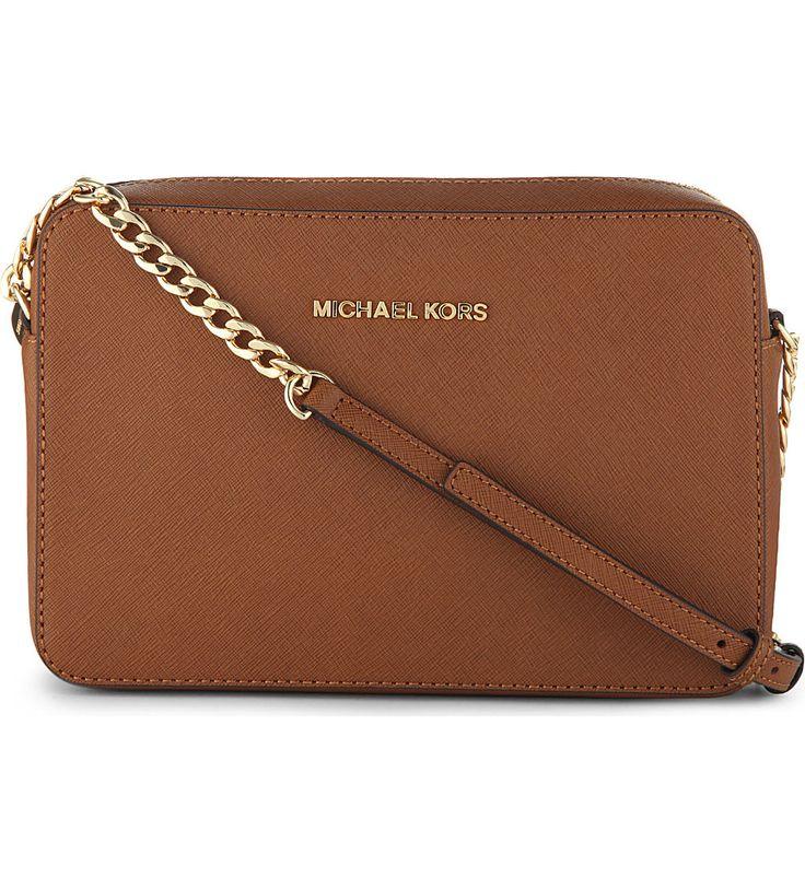 MICHAEL MICHAEL KORS - Saffiano leather cross-body bag | Selfridges.com
