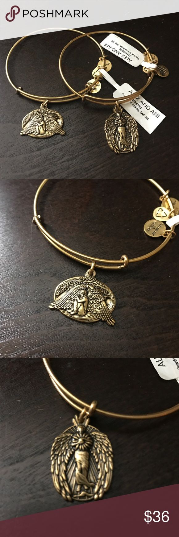 Alex and Ani gold bracelets Alex and Ani gold Guardian of knowledge, enlighten me and Guardian of healing, renew me. Both are brand new with retail tags Alex & Ani Jewelry Bracelets