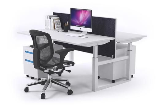 SitStand 2 Person Workstation Electric Height Adjustable Standup. Studies show that sitting and standing for hours on end can cause health problems as well as work inefficiency. With The JasonL 2 person, sit-stand workstation, you and your colleagues can find the right balance of sitting and standing throughout your day to make sure that you feel good and work well.