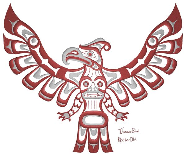 64 best images about thunder bird tattoo on pinterest for Native design