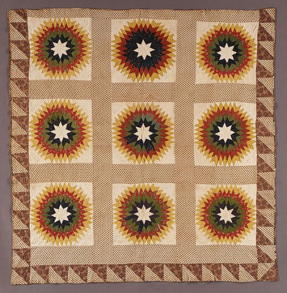Quilt, Star of Bethlehem Pattern LACMA Collections Ahhhh Quilts Pinterest Quilt ...