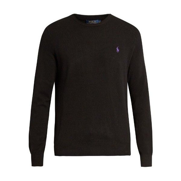 Polo Ralph Lauren Crew-neck wool sweater (230 BRL) ❤ liked on Polyvore featuring men's fashion, men's clothing, men's sweaters, black, mens crew neck sweaters, mens woolen sweaters, mens crewneck sweaters, mens wool sweaters and polo ralph lauren mens sweater
