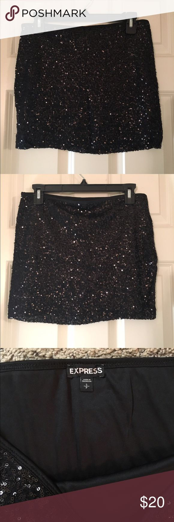 Express sequined mini skirt Express sequined mini skirt. Stretchy material, worn a couple times & still in great condition! Express Skirts Mini