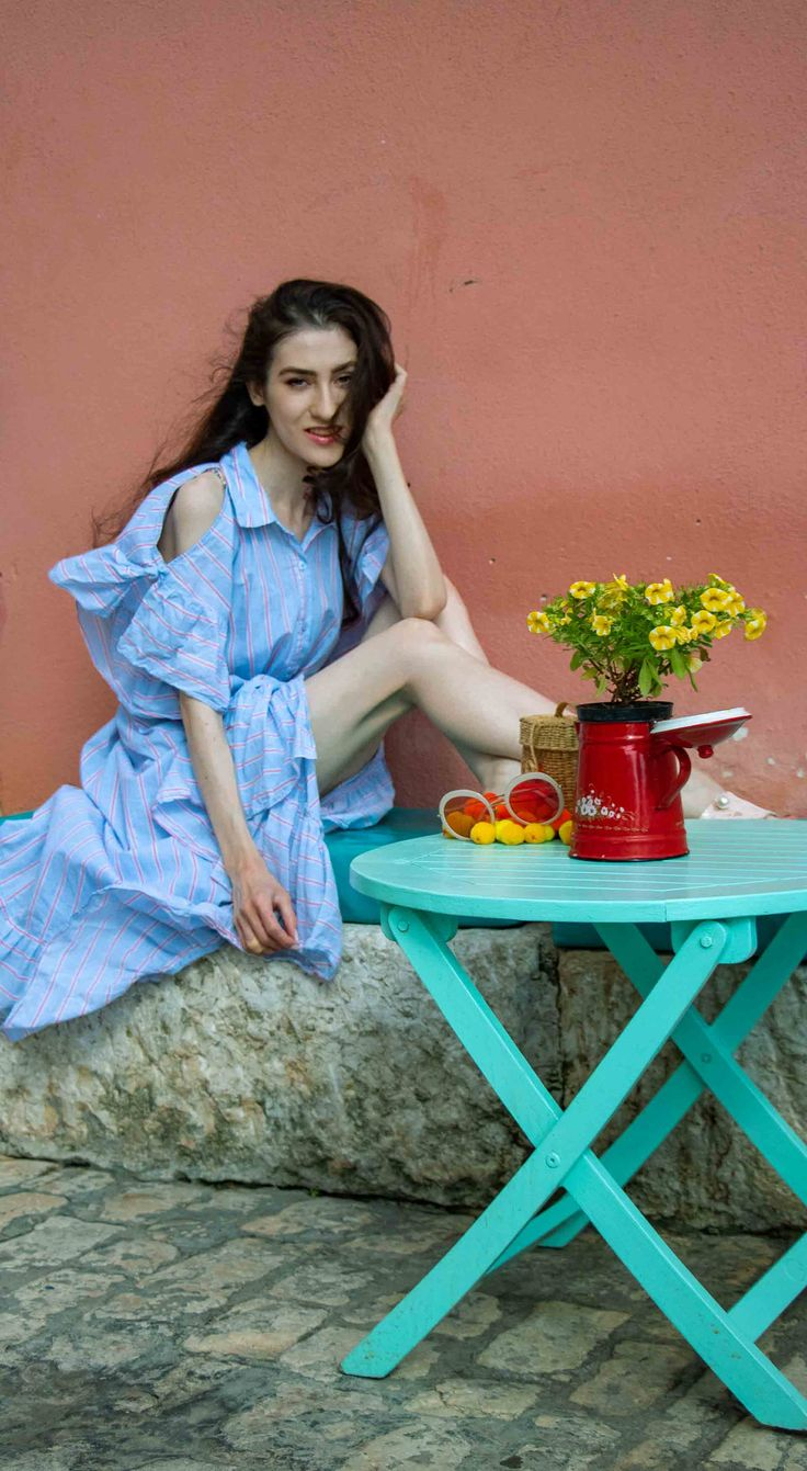 "Fashion Editor Veronika Lipar of Brunette from Wall Street sharing romantic summer dress to wear on weekend getaway to Rovinj #fashion #getaway #shirtdress #vacation #Croatia #romantic #pretty #fashiontrends #pastels #beachstyle #ss2018 #feminine #summer #trenddriven #ruffleddress #summerdress #daydress #vacationdress #Rovinj #storets #nannacay"" width="