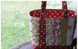 Friendship bag tutorial. It's quick and easy!