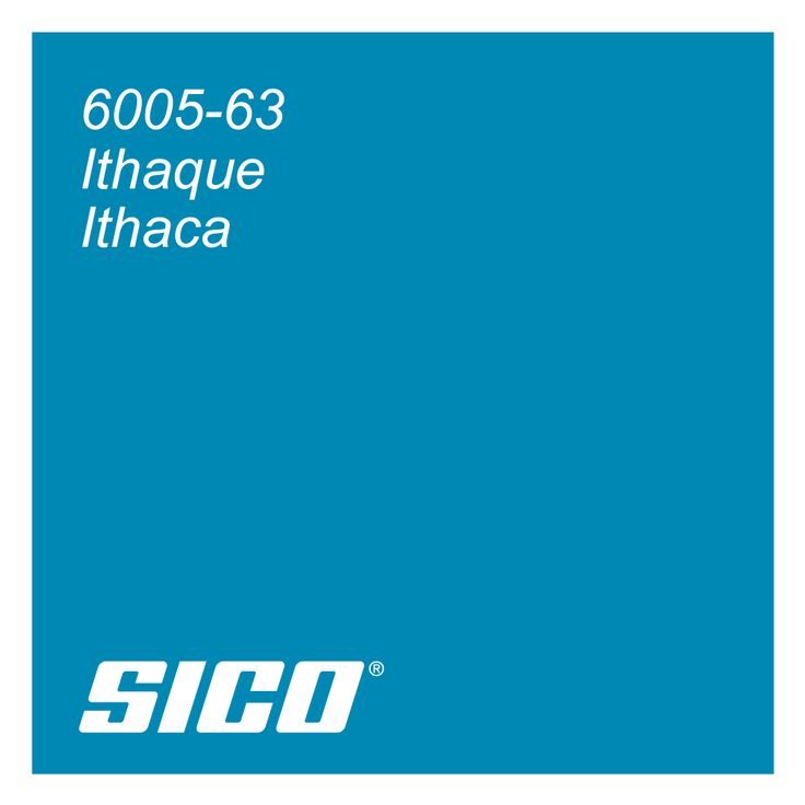 Ithaca bright blue paint colour by Sico Paints, a part of the Modern Mosaic Trend series | Ithaque, un bleu issu de la tendance couleurs Mosaïque moderne de Sico.