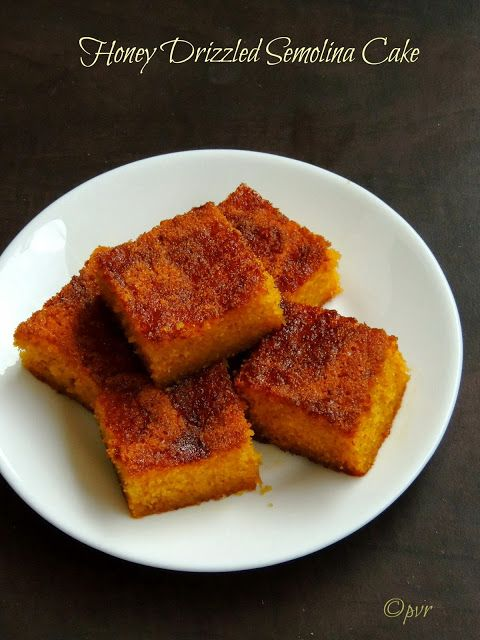 Priya's Versatile Recipes: Honey Drizzled Semolina Cake | This is me ...