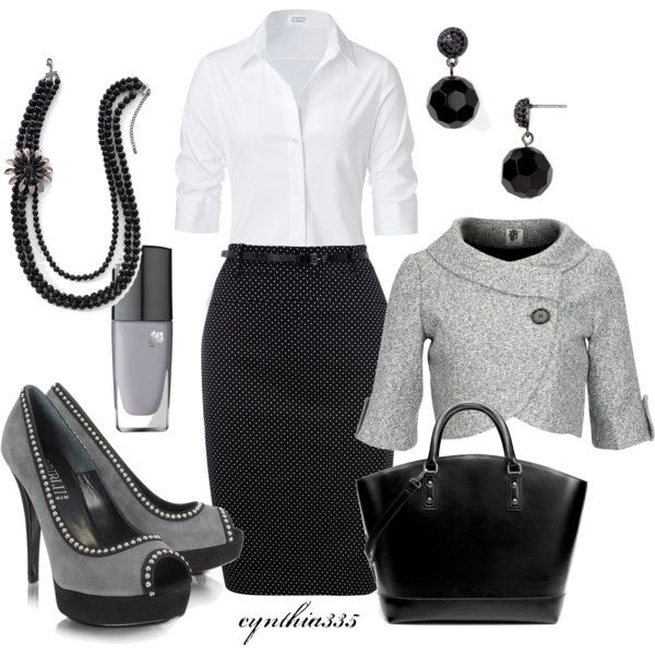 For an extra dressy day at the office, created by cynthia335 on