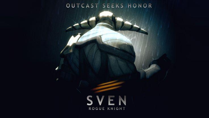 Sven: Outcast Seeks Honor Wallpaper, more: http://dota2walls.com/sven/sven-outcast-seeks-honor